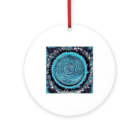 AquaSpiral Ornament (Round)