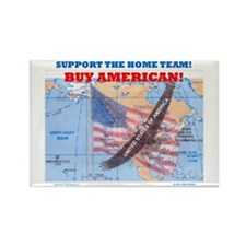 BUY AMERICAN! Rectangle Magnet