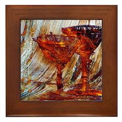 Wine Glasses Framed Tile