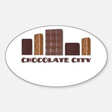 Chocolate City Oval Decal