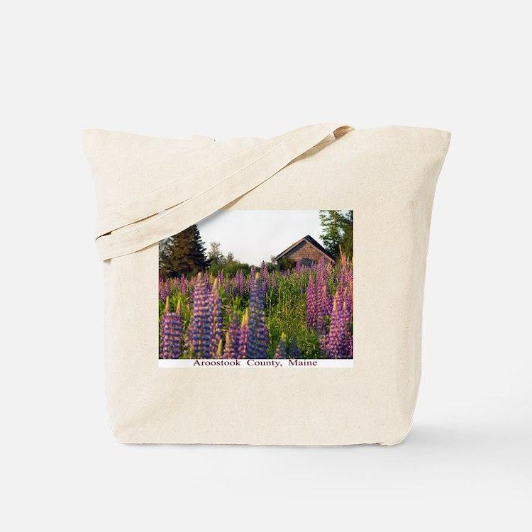 Reach road lupines Tote Bag