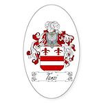 Tanzi Coat of Arms Oval Sticker