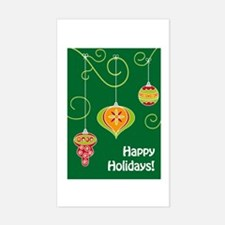 Cute Christmas bauble Sticker (Rectangle)