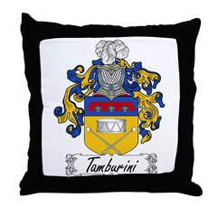 Tamburini Coat of Arms Throw Pillow