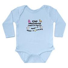 Old McOlivia Had a Farm Long Sleeve Infant Bodysui