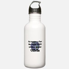 World Revolves Around Olivia Water Bottle