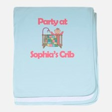 Party at Sophia's Crib baby blanket
