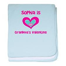 Sophia is Grandma's Valentine baby blanket