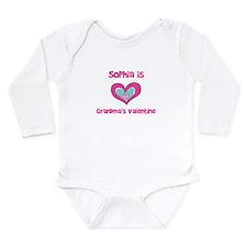 Sophia is Grandma's Valentine Onesie Romper Suit
