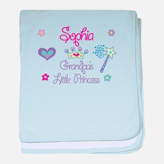 Sophia - Grandpa's Little Pri baby blanket