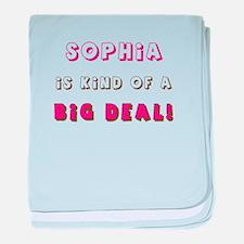 Sophia Is Kind of a Big Deal baby blanket