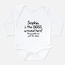 Sophia is the Boss Long Sleeve Infant Bodysuit