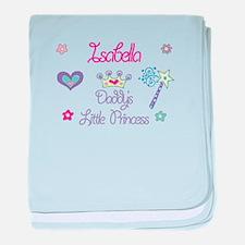 Isabella - Daddy's Little Pri baby blanket