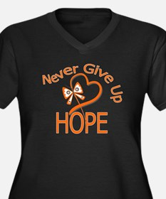 MultipleSclerosis NeverGiveUp Women's Plus Size V-