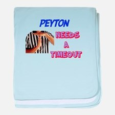 Peyton Needs a Time-Out baby blanket