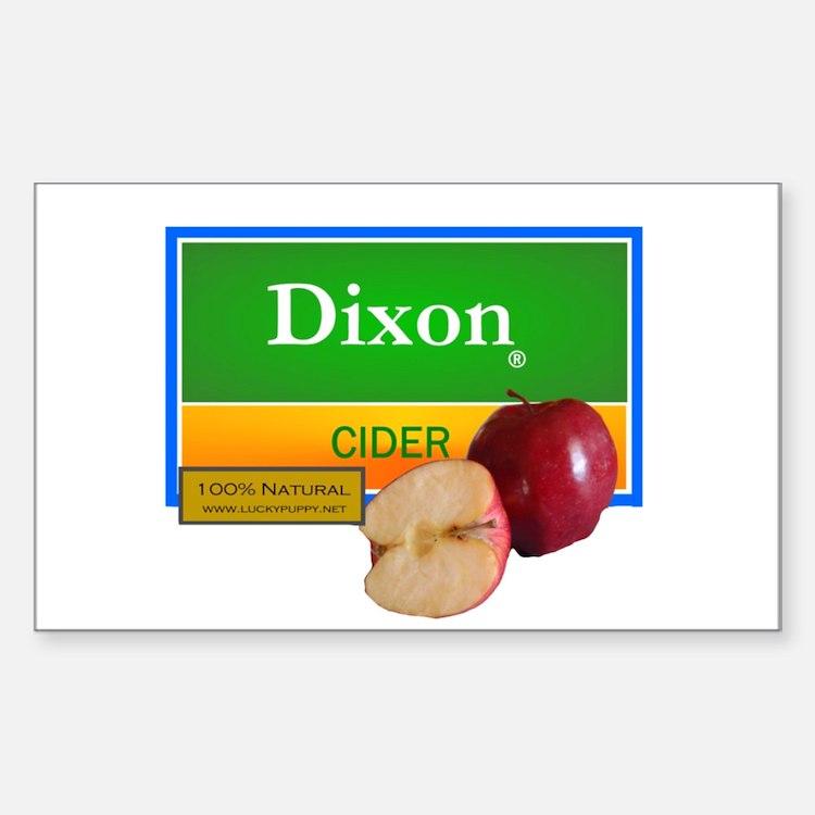 Dixon Cider Rectangle Decal