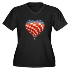I Heart Hot Air Ballooning Women's Plus Size V-Nec