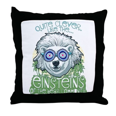 Clever Oceanic Polar Bear Throw Pillow
