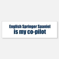 English Springer Spaniel is m Bumper Car Car Sticker
