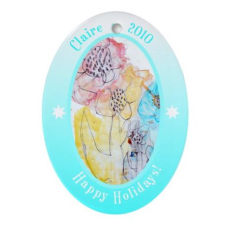 Claire's Ornament Ornament (Oval)