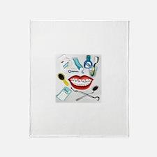 Dentist Jelly Beans Throw Blanket