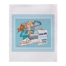 Cats & Writers Throw Blanket