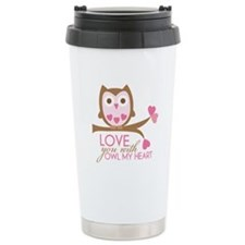Love you with owl my heart Travel Mug