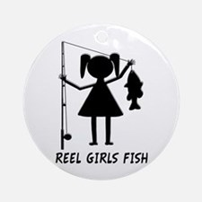 Reel Girls Fish Ornament (Round)