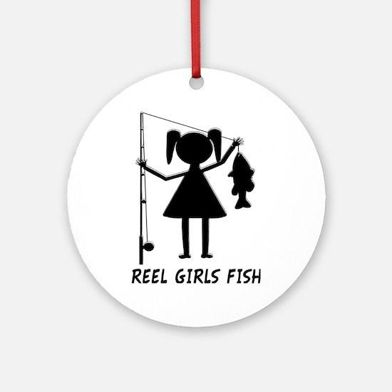 Reel Girls Fish Ornament (Round)