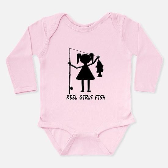 Reel Girls Fish Long Sleeve Infant Bodysuit