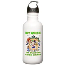 I'M PLAYING VIDEO GAMES Water Bottle