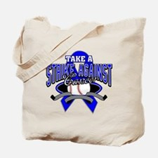 Take a Strike Colon Cancer Tote Bag