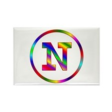 Letter N Rectangle Magnet