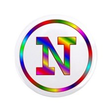 """Letter N 3.5"""" Button"""