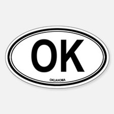 Oklahoma (OK) euro Oval Decal