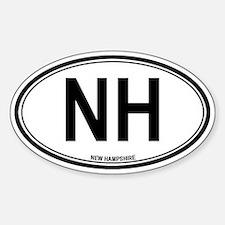 New Hampshire (NH) euro Oval Bumper Stickers