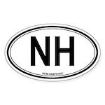 New Hampshire (NH) euro Oval Sticker