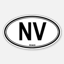 Nevada (NV) euro Oval Decal