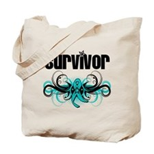 Ovarian Cancer Survivor Deco Tote Bag