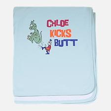 Chloe Kicks Butt baby blanket