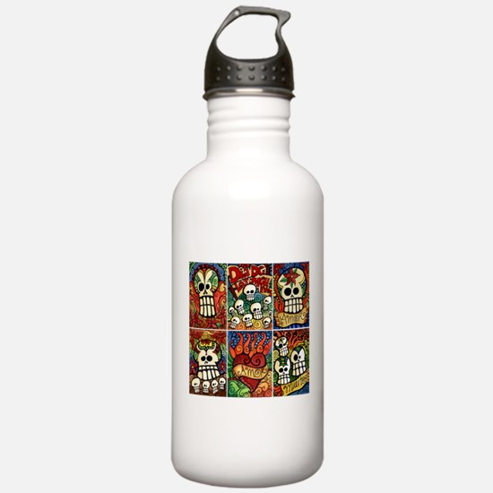 Day of the Dead Sugar Skulls Water Bottle