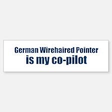German Wirehaired Pointer is Bumper Car Car Sticker