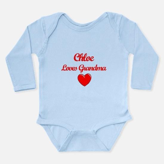 Chloe Loves Grandma Long Sleeve Infant Bodysuit