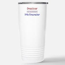 Grace Firecracker Stainless Steel Travel Mug