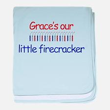 Grace Firecracker baby blanket