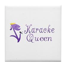 Karaoke Queen Tile Coaster