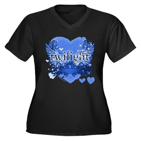 Twilight Midnight Blue Women's Plus Size V-Neck Da