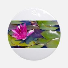 Waterlily Detail Ornament (Round)