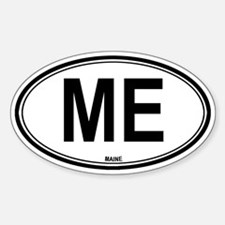 Maine (ME) euro Oval Decal