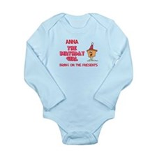 Happy Birthday Anna Long Sleeve Infant Bodysuit